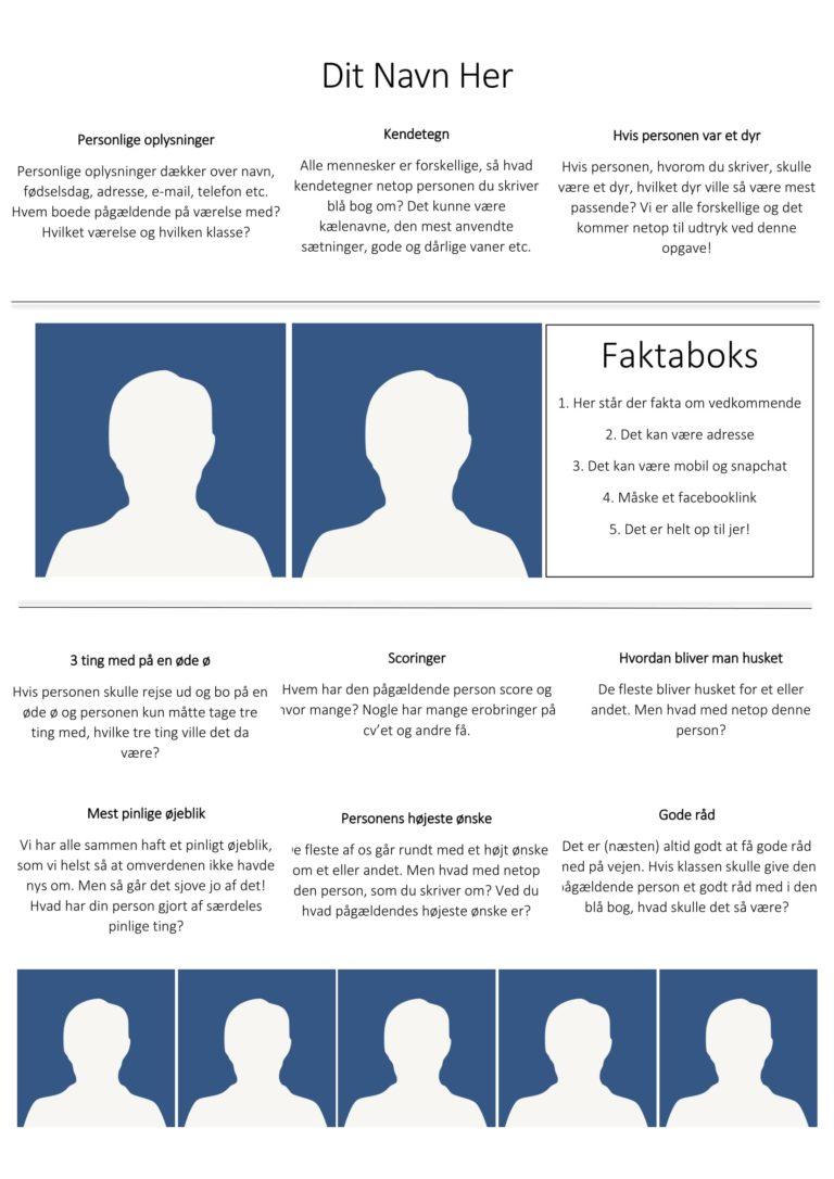 Blå bog layout